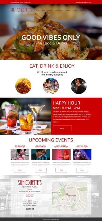 Visual Design for Restaurant Website (Photoshop)